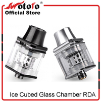 Original Wotofo Ice Cubed Glass Chamber RDA Vape Tank Adjustable Top Airflow 510 Thread Pyrex Glass