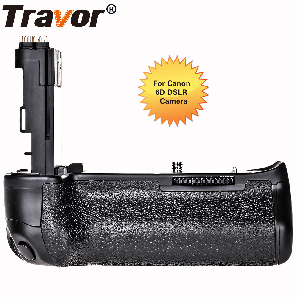 Travor Multi Power Vertical Battery Grip for Canon 6D Camera replacement BG-E13 work with LP-E6 battery or Six AA battery professional vertical battery grip pack holder for canon 6d camera as bg e13 2pcs lp e6 battery 2pcs microfiber cleaning cloth