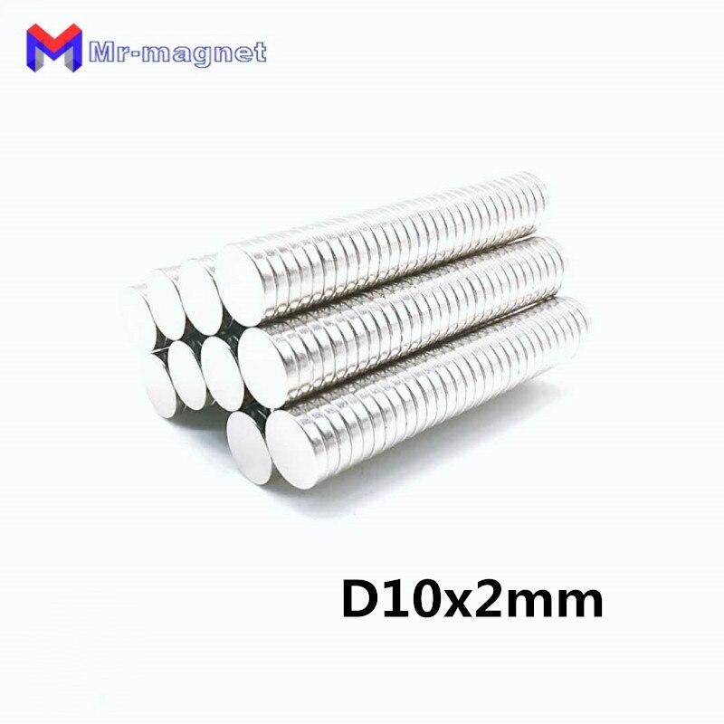 Неодимовый магнит NdFeB, 10 х2 мм, 10 х2 мм, 500 шт.