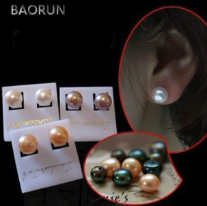 MIX COLOR 100 PAIRS LOT 6 7MM Size Genuine Natural Freshwater Pearl Stud Earrings Jewelry Hot