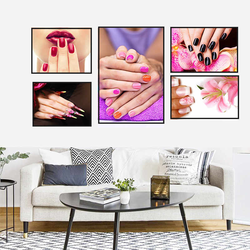 Modern Sex Nail Salon Colorful Home Decor Wall Art Nordic Canvas Painting Figure Print Poster Girl Bedroom Living Room Picture