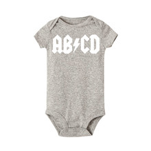 ABCD ACDC Funny Rock Baby Newborn bodysuit Baby Boy Girl Clothes Baby Jumpsuit First Birthday Outfit Boy Bodysuit One-piece(China)