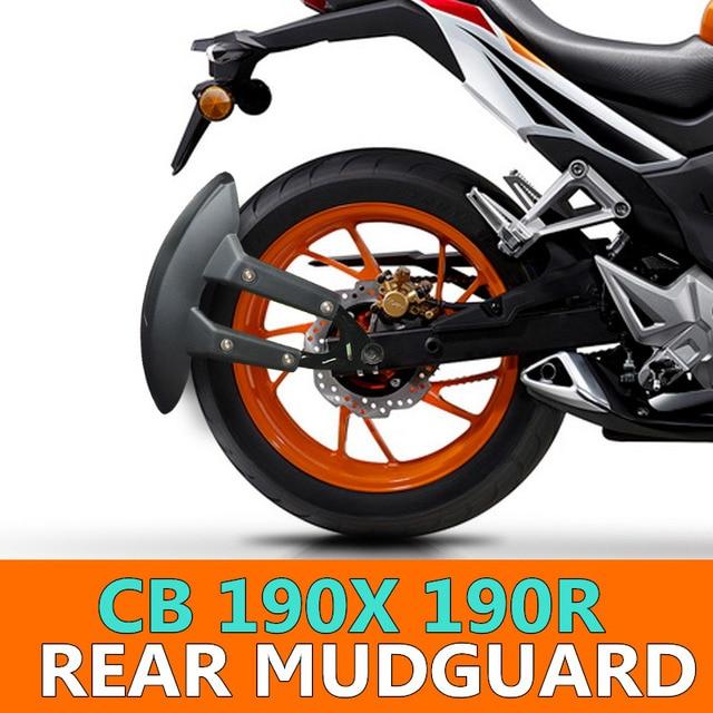 รถจักรยานยนต์ด้านหลังกันชน Flare โคลน Mudguard GUARD Blavk สำหรับ Honda CBF 190r CBR 190x cbf150
