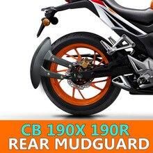 Posteriore del motociclo Parafanghi Flare Mud Flap Parafango Guardia Blavk Per Honda cbf cbr 190r 190x cbf150