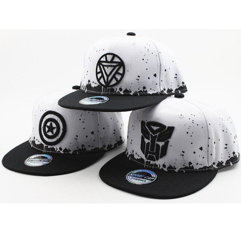 Super League Captain America Children's Street Dance   Baseball     Caps   Summer Outdoor Sunshade Hip Hop Hat Cartoon Boy Girl   Caps