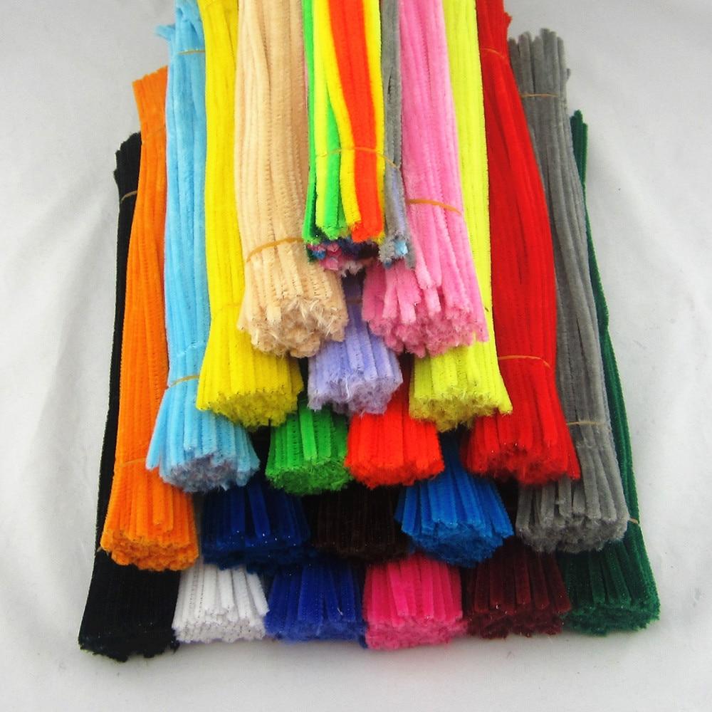 1bag (100pcs) Multicolour Chenille Stems Pipe Cleaners Handmade Diy Art &Craft Material Kids Creativity Handicraft Toys