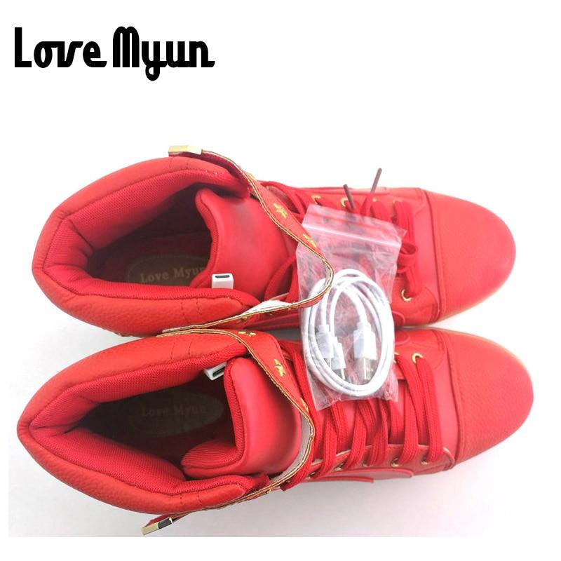 Merek Pria lentera tinggi Top Sepatu Putih Hitam MERAH 7 Warna sepatu - Sepatu Pria - Foto 5