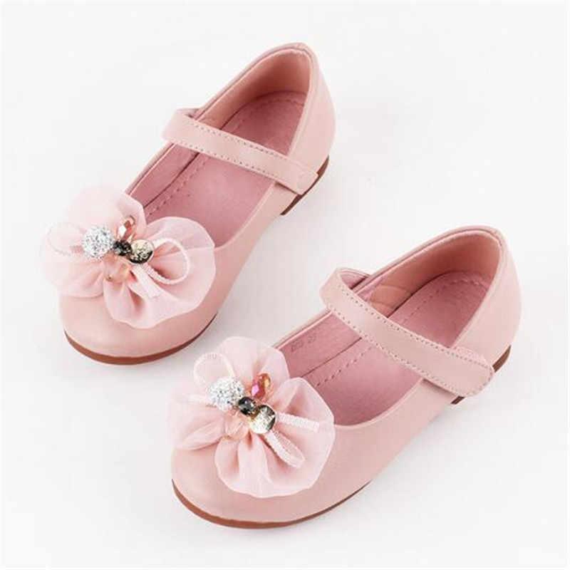 ใหม่ฤดูใบไม้ผลิ/ฤดูใบไม้ร่วงเด็กรองเท้าแบนรองเท้าเจ้าหญิงปาร์ตี้เต้นรำรองเท้าแตะเด็กเด็ก Microfiber รองเท้า 04