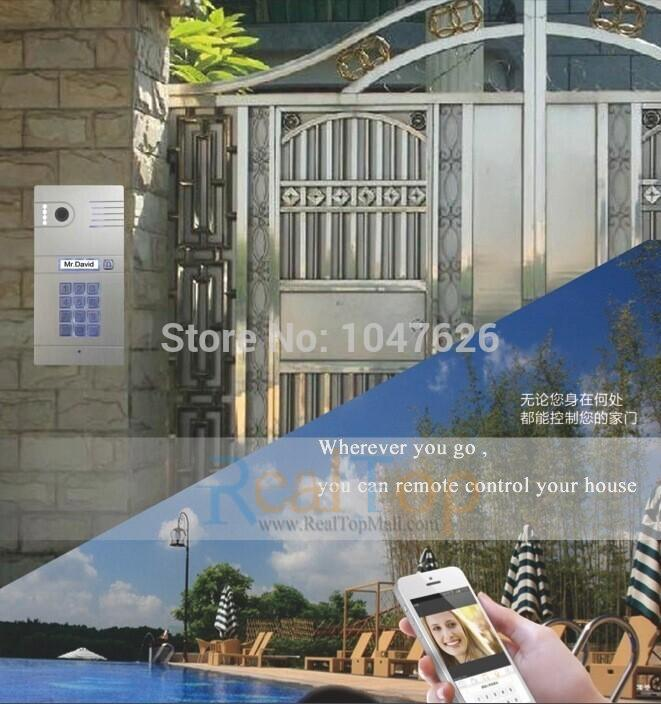 Remote Control camera Doorbell Wireless IP Intercom video door phone System ip video door phone intercom system wireless control ip camera video intercom remote control smart doorbell via smartphones