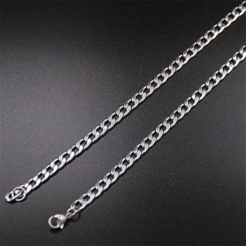 Wholesale Cheap 4MM Stainless Steel NK Figaro Chain Necklace Length 50CM/55CM/60CM/70CM Fashion Cool Party Jewelry For Men