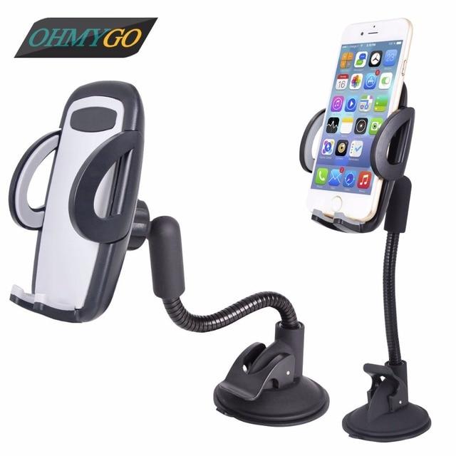 Adjustable Car Window Dashboard Holder Mount Cradle Windshield Switch Flexible Goose neck Suction Holder Stand for Smart Phones