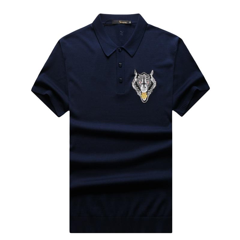 T shirt uomo couture italiana miliardario 2017 lancio summer fashion comfort ricamato progettato gentleman spedizione gratuita-in Magliette da Abbigliamento da uomo su  Gruppo 1