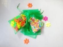 500 unids Hierba verde del regalo del organza bolsas 17×23 cm bolsos de fiesta para las mujeres evento casarse Con Cordón bolsa de La Joyería pantalla Bolsa de accesorios de bricolaje