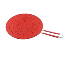 13 Inch Splatter Screen  Multi Use 4 In 1 Cover/Strainer/Cooling Mat/Drain, Protects From Hot Oil Splash For Cooking & Frying