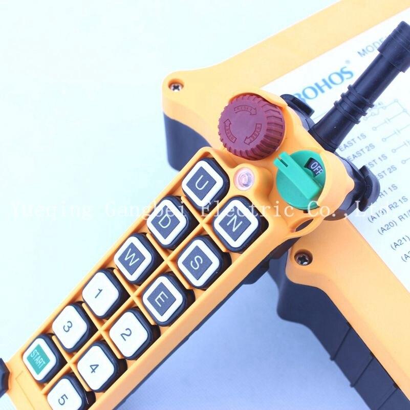 цены HS-12S Hoist crane remote control wireless radio Uting remote control 380VAC 220VAC 36VAC 12VDC-24VDC