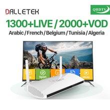 UE EUA REINO UNIDO AU Leadcool Inteligente Android TV Caixa de IPTV Arábica caixa de 1 Ano QHDTV Assinatura IPTV 1300 Canais IPTV Turco Francês caixa