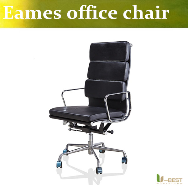 U-BEST Emes Aluminum Group Management Chair  designer executive chairs,emes style real high back  leather Desk Chairs