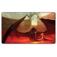 Tùy chỉnh In Game Of Thrones Ảo Dragon Cháy Playmat, Khaleesi và Ông Rồng Trò Chơi Playmat 35x60 cm
