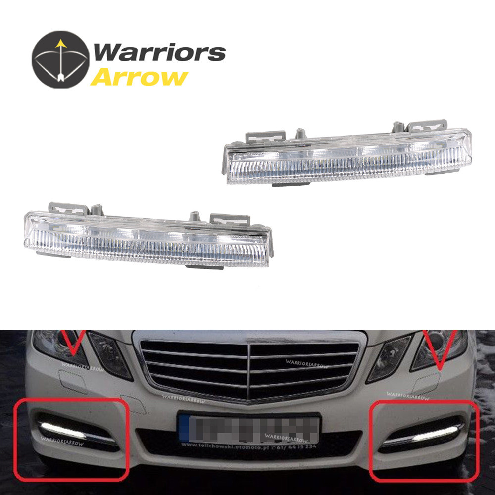 2049068900 2049069000 For Mercedes-<font><b>Benz</b></font> W204 S204 C350 W212 <font><b>R172</b></font> Front Pair Left Right LED DRL Daytime Running Lamp Fog Light image