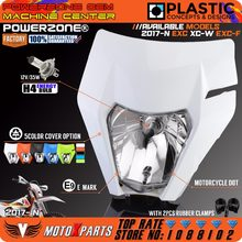 Фара головного света POWERZONE для мотоцикла 2017 18 KTM, фара головного света EXC XCF SX F SMR Enduro, мотоцикла, Кросса, супермото, лампа H4