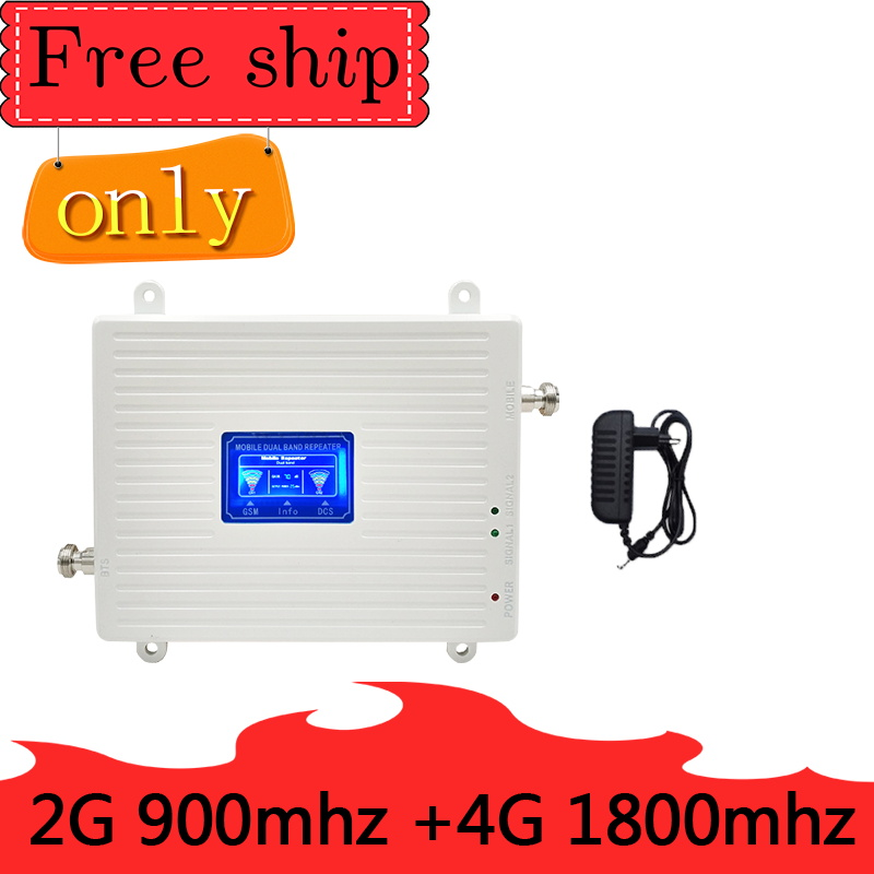 TFX-BOOSTER GSM 900 LTE 1800 MHZ Mobile Signal Repeater 23dBm 70dB Gain 2G GSM 4G LTE Cellular Booster Amplifier 2G 4G Antenna