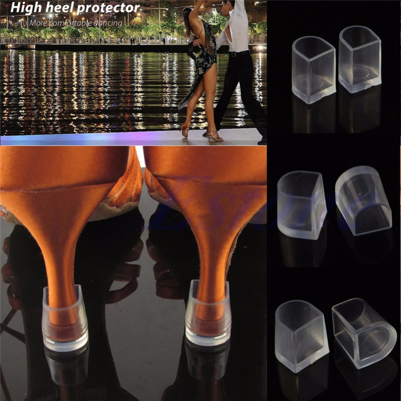 Aohaolee 1 Pair/Lot Silicone Stiletto High Heel Protector Antislip Latin Stiletto Dancing Covers Heel Stoppers For Wedding Favor