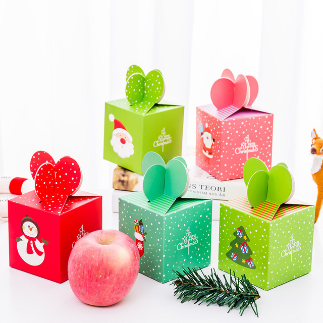 New Christmas Eve Apple Gift Box For Children Kids Cartoon Candy
