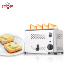 ITOP 4 Slices Toaster Oven Machine Stainless Steel Commercial Bread Toasters 220V/240V Digital Timer Control Cooking Tools