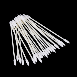 Image 1 - 1/2 שקיות ראש כפול פרו אבק משלוח חד פעמי ניקוי ספוגית כותנה מקל עבור AirPods אוזניות טלפון תשלום יציאת אבזרים