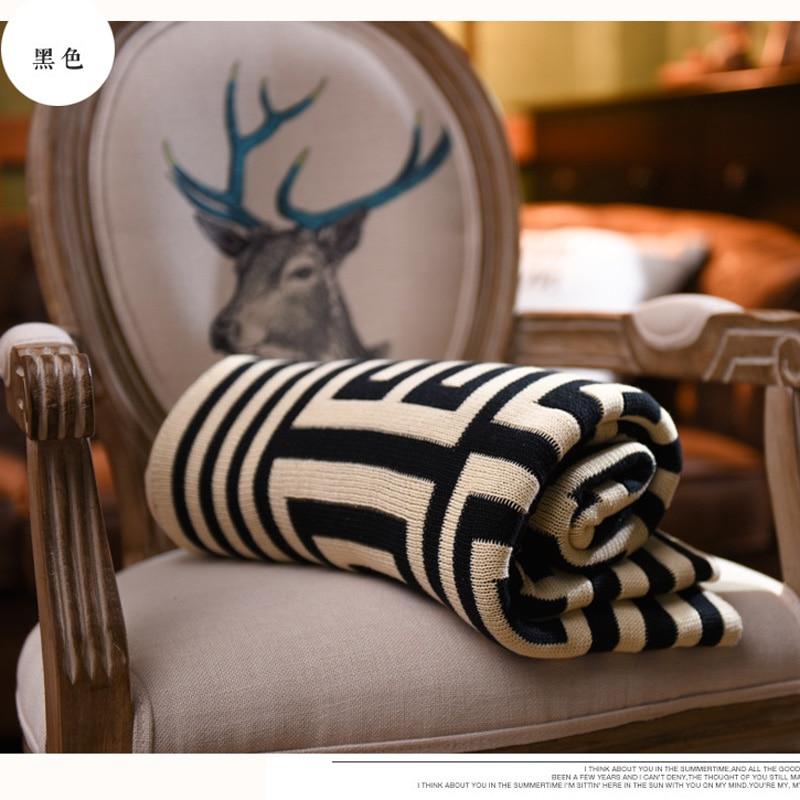 ФОТО Plaid Secret Blanket Knitting Cotton Blankets Throws on Sofa Bed Plane Travel Plaids bedspread double striped hot thread towel