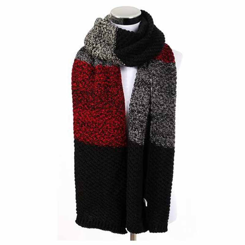 Winter Strip Knitted Scarf | Men's Scarves | Up to 60% Off Now