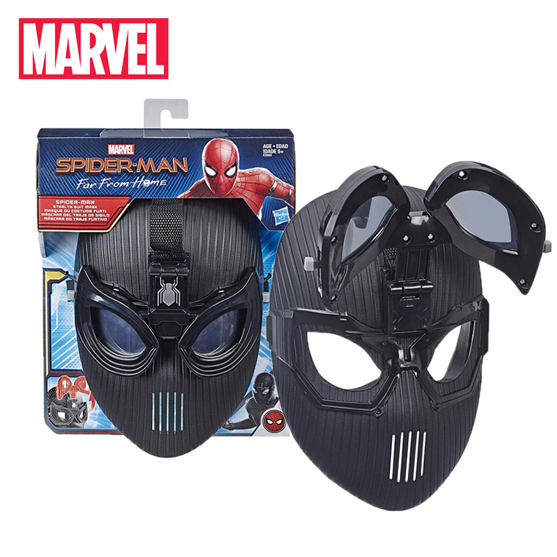 2019 Marvel Toys Avengers Spider-Man Far from Home Stealth Suit Mask for Roleplay Super Hero Mask Toy Full Face Mask EYES MOVE(China)