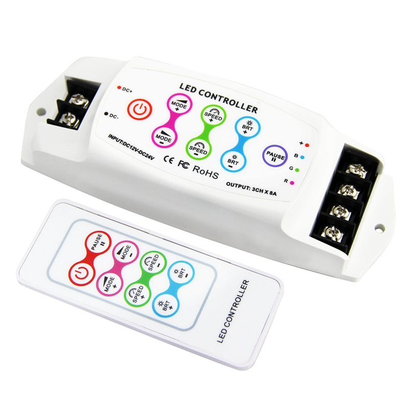 Bc-390Rf 8A/Ch X 3 Multi-Function Rgb Led Controller Wireless Remote Dc12V-24V/Dc5V-24V for Led Strip(China)