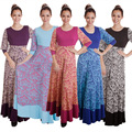 Abaya vestuário islâmico para as mulheres muçulmanas dress turco adogirl nacionalidade impressão abayas dubai robe musulmane 5 cores