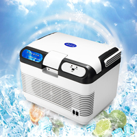 12L Portable Mini Refrigerator 60W 12V/240V Car Camping Home Fridge Cooler/Warmer With 2 Charging Methods Portable Handle