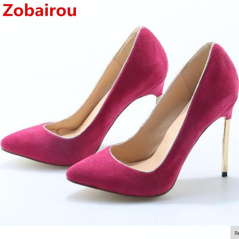 Rouge Escarpins As En Zobairou Chaussures Cuir Noir De Sexy Dames Métal Femme Mariage Stiletto Picture Haute Pompes Picture as Talons Daim 6IfgmYb7yv