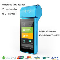 5 inch android mobile payment terminal with MSR IC NFC WIFI Bluetooth 4G LTE Camera