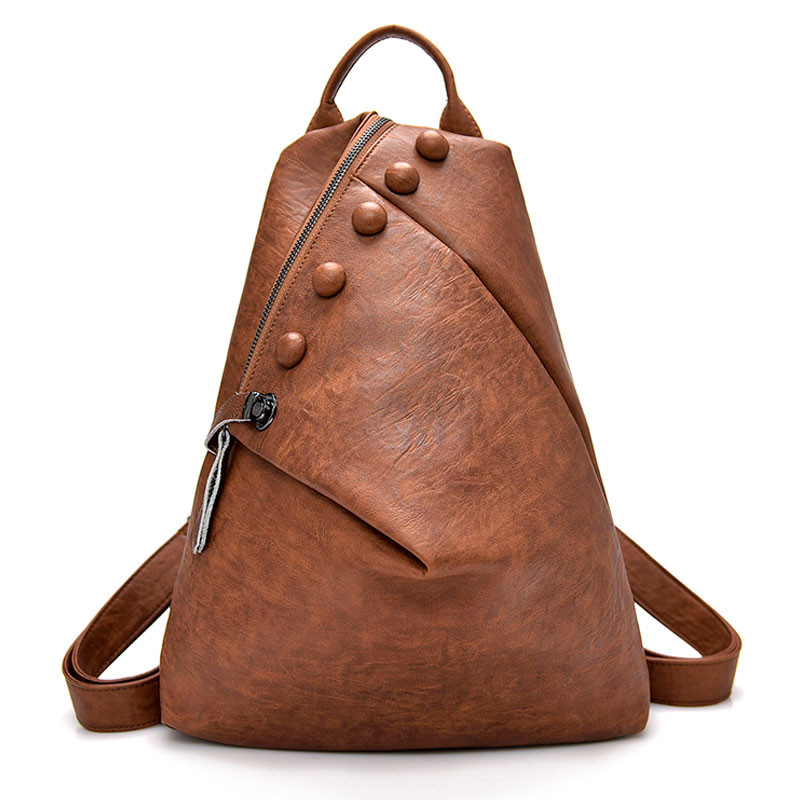 New Antitheft Backpack Women High Quality Leather Multifunction Shoulder Bag Female Mochilas School Travel Bags For Girls Preppy