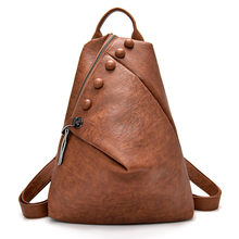 New Antitheft Backpack Women High Quality Leather Multifunction Shoulder Bag Female Mochilas School Travel Bags for Girls Preppy(China)