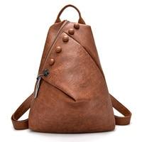 New Antitheft Backpack Women High Quality Leather Multifunction Shoulder Bag Female Mochilas School Travel Bags for Girls Preppy