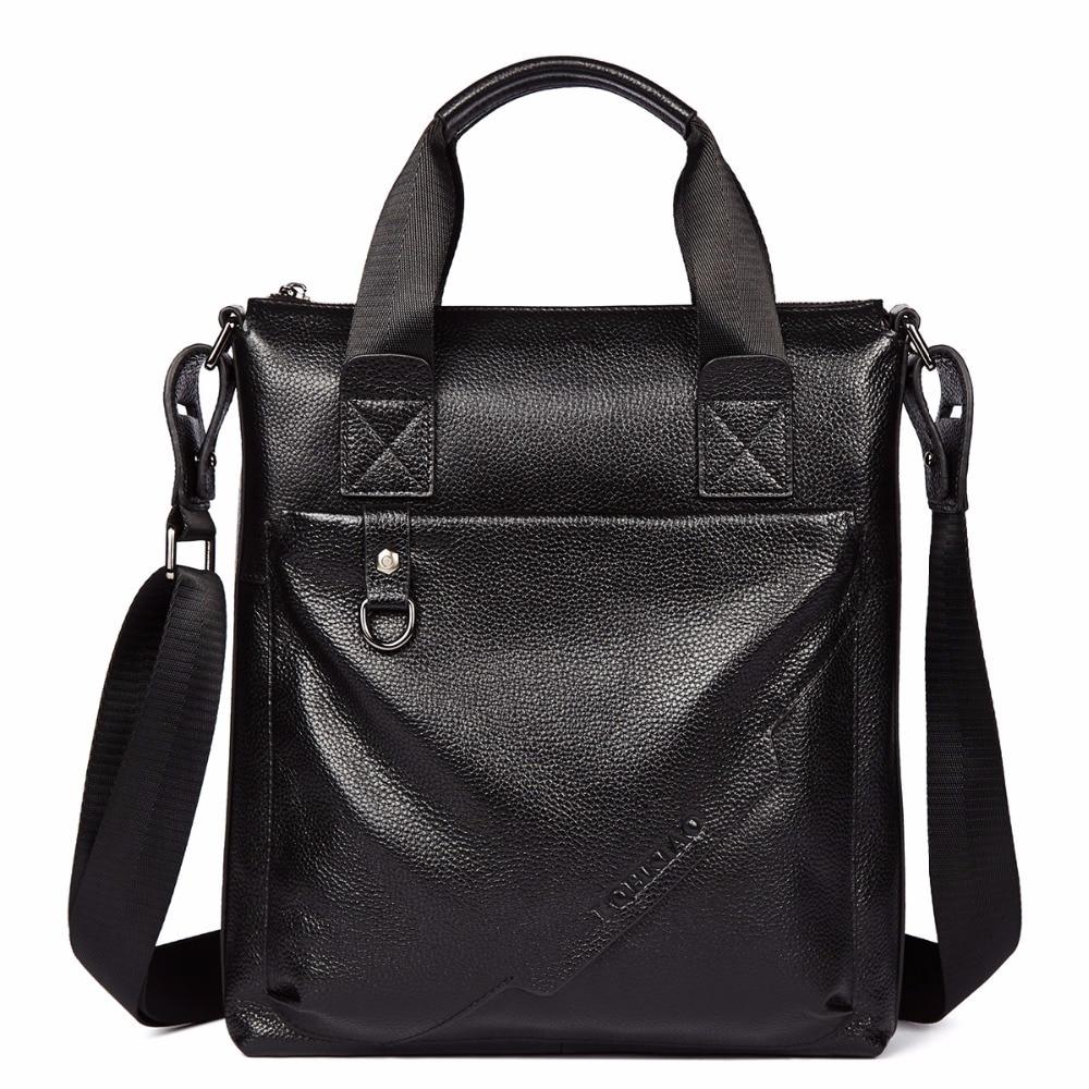 LOHKIAO New Men s 100 Genuine Leather Real Cowhide Handbag Messenger Shoulder Tote Briefcase Hand Bag