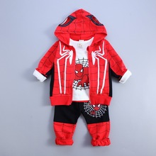 Newest Spring autumn Baby Boys clothes set Spider Man Suits Infant Clothing Set Kids coat+T Shirt+Pants 3Pcs Sets Children Suits