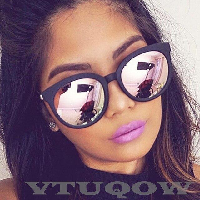 4d4610b1c2 De moda de ojo de gato gafas de sol mujer marca diseñador 2019 espejo gafas  de