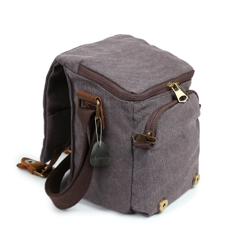 Vintage Canvas Camera Bag Men Handbag Multifunction Travel Bag SLR Camera Messenger Bags Male Waterproof Shoulder Crossbody Bags