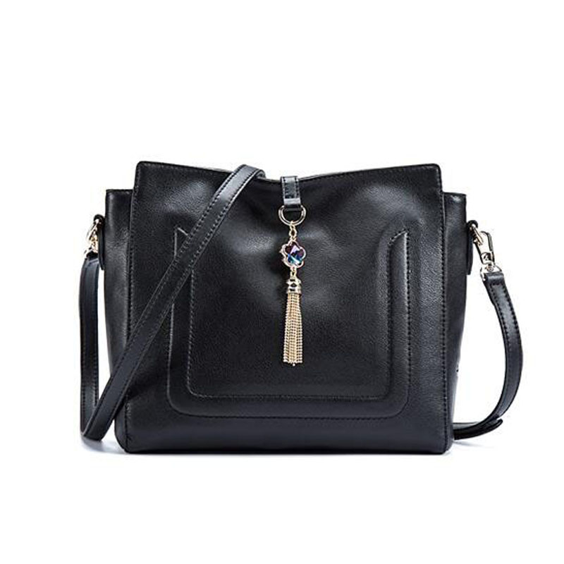 ФОТО 2016 New genuine leather women bag famous designer brand bags women leather handbags quality fashion tassel leather Leisure bag