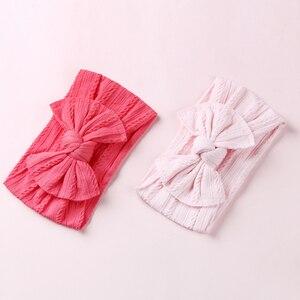 Image 4 - 100 stks/partij, Groothandel Brede Nylon Boog Headwrap, One size fits meest Knoop Boog Nylon Hoofdbanden 27 Kleuren beschikbaar