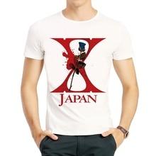 Japan Heavy Metal Band X-JAPAN T-shirt Good Quality White Short Sleeve Cartoon Logo Top Tees Shirt