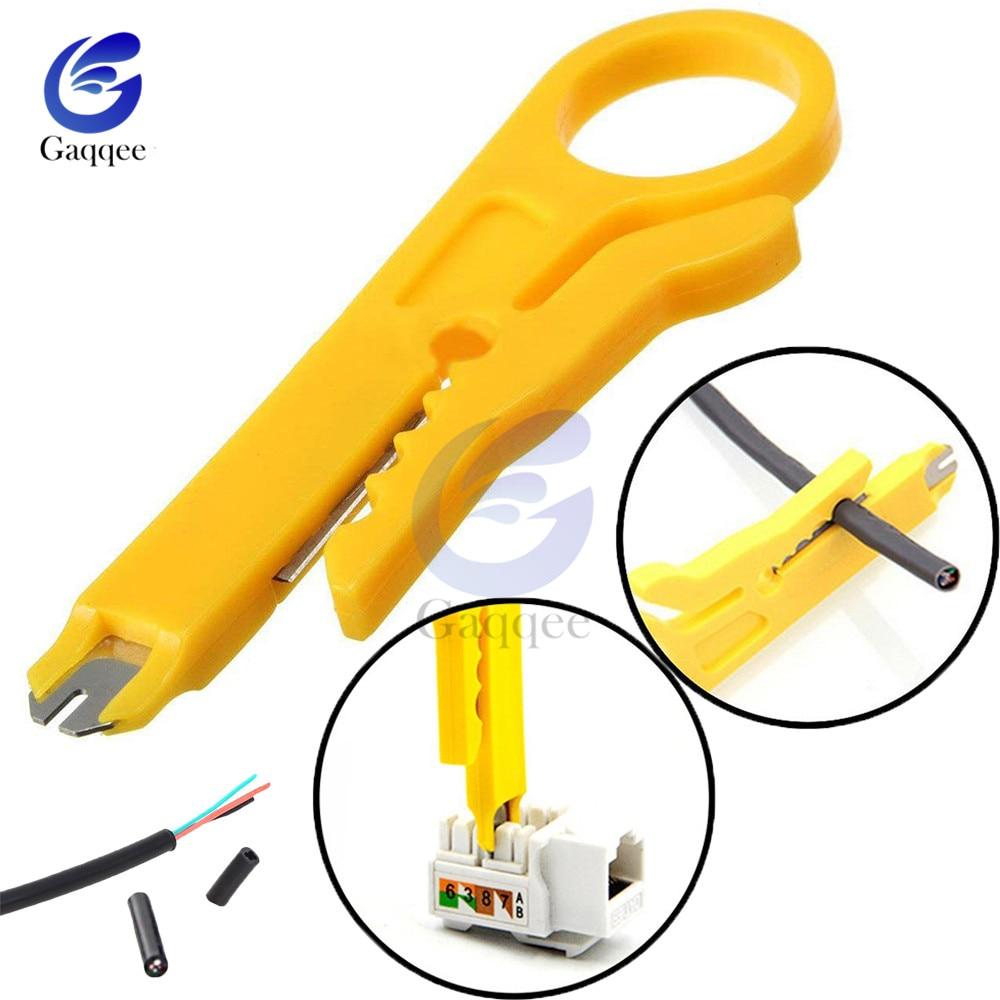 Mini Portable fil dénudeur couteau pince à sertir outil de sertissage câble dénudage fil coupe Multi outils coupe ligne poche Multitool