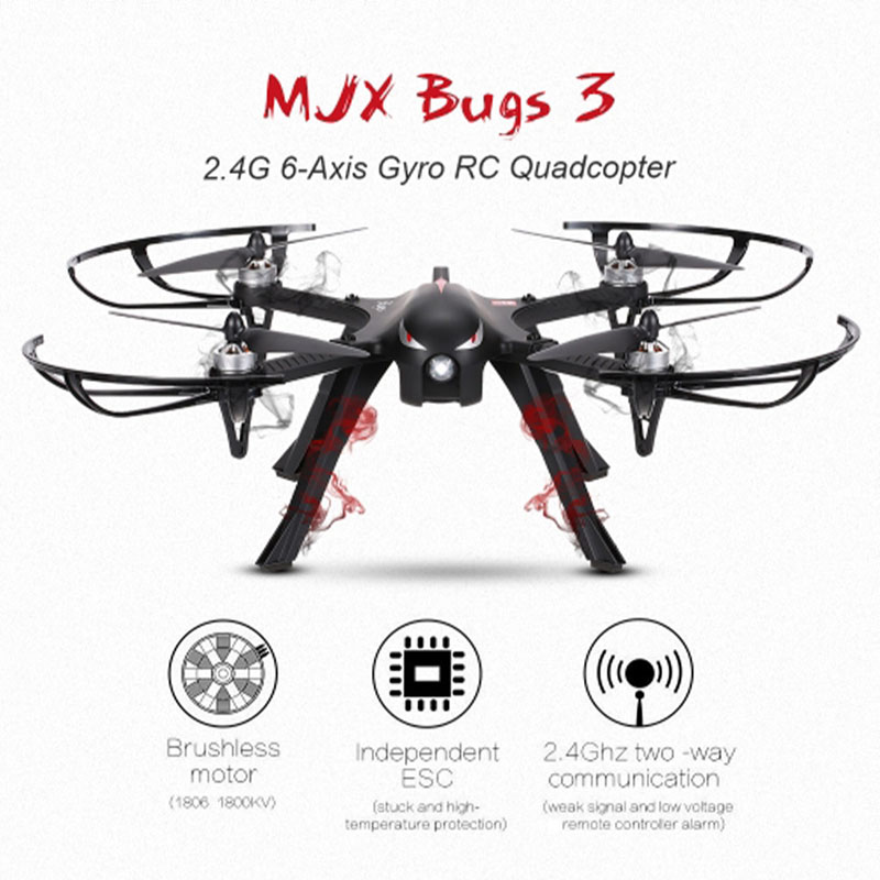 Drone professionnel MJX Bugs 3 B3 quadrirotor Brushless Hélicoptère rc avec 4 k/1080 P Wifi HD CAMÉRA Peut Transporter Gopro /Xiaomi/Eken H9