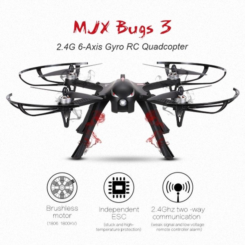 Professionnel Drone MJX Bugs 3 B3 Quadcopter Brushless RC Hélicoptère Avec 4 k/1080 p Wifi HD Caméra Peut transporter Gopro/Xiaomi/Eken H9